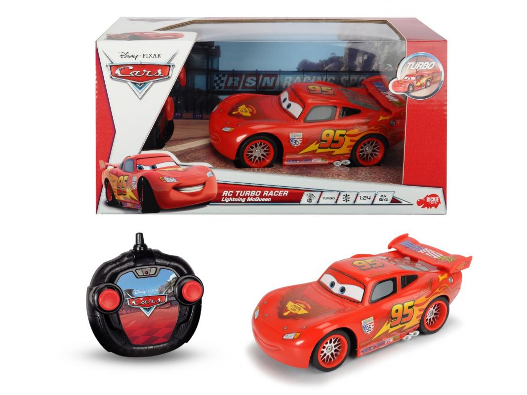 Dickie RC Cars Turbo Racer Blesk McQueen 1:24, 17 cm, 2 kanály