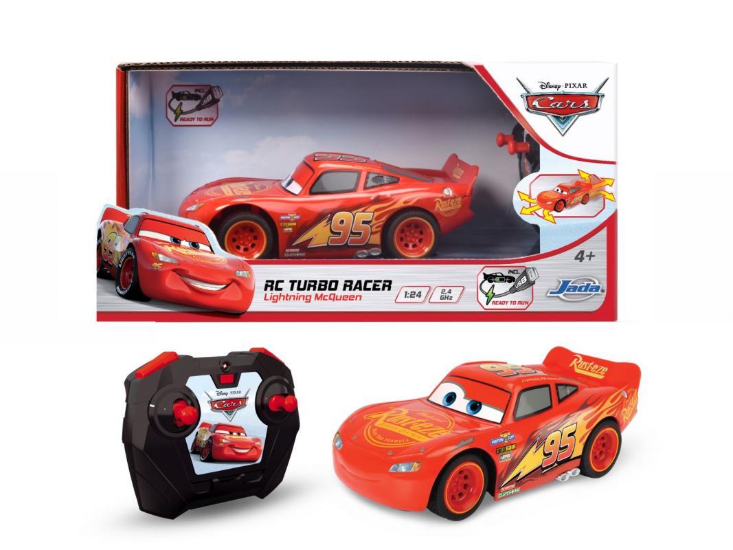 RC Cars 3 Blesk McQueen Turbo Racer 1:24, 17cm, 2kan