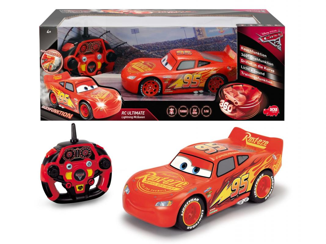 Dickie RC Cars 3 Ultimate Blesk McQueen 1:16, 26cm, 3kan