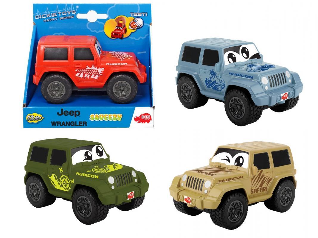 Dickie Auto Happy Jeep Wrangler Squeezy 11 cm, 4 druhy