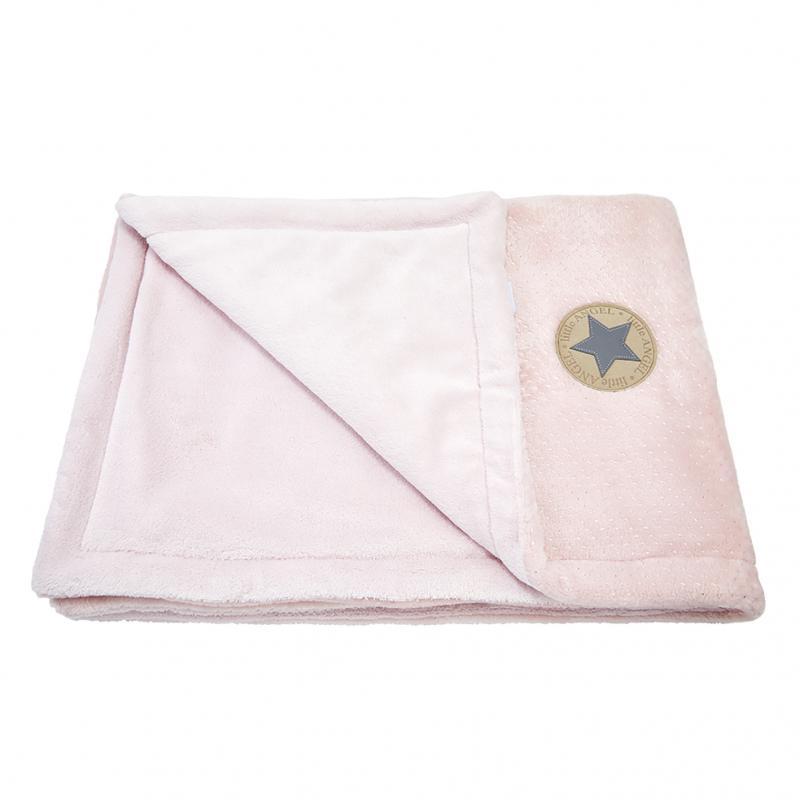 Little Angel deka dvojitá Mazlík Outlast pudrová stříbrný puntík/sv.pudrová