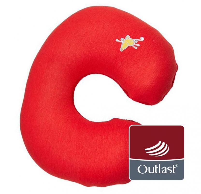 Little Angel cestovní polštářek červená/červená