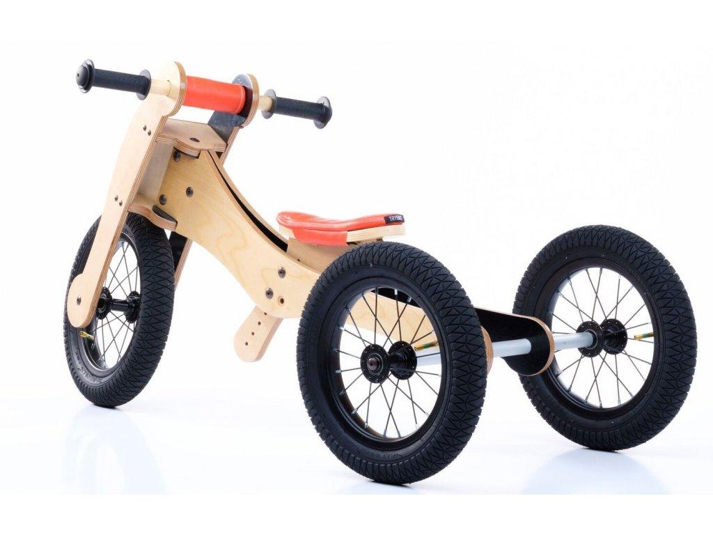 TRYBIKE dřevěné odrážedlo/tříkolka 4v1 ORANŽOVÁ