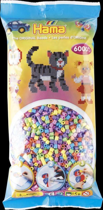 HAMA Midi korálky barevné 6000 ks