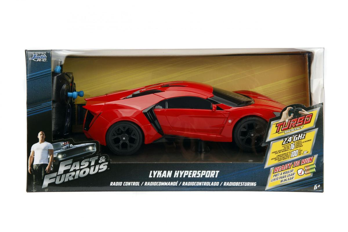 JADA Rychle a zběsile RC auto Lykan Hypersport 1:16