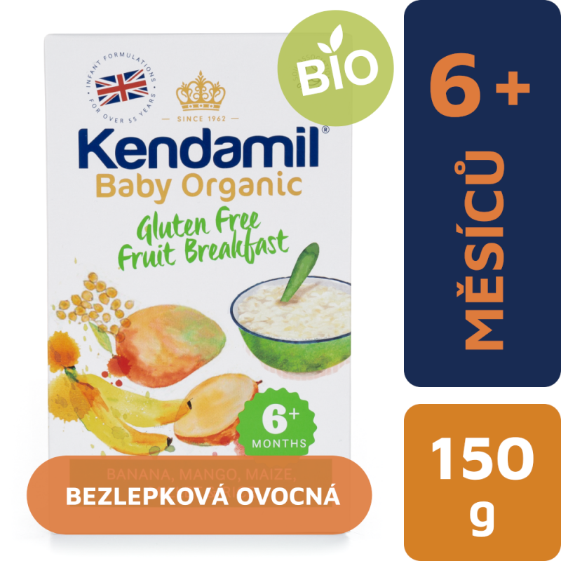 Kendamil Bezlepková Organická/BIO kaše ovocná snídaně