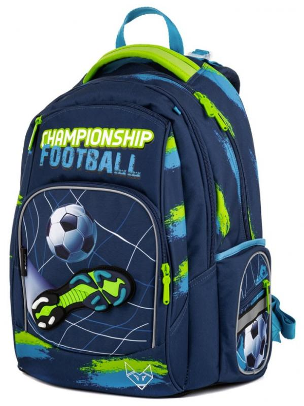 Karton P+P Školní batoh - OXY Style Mini football blue