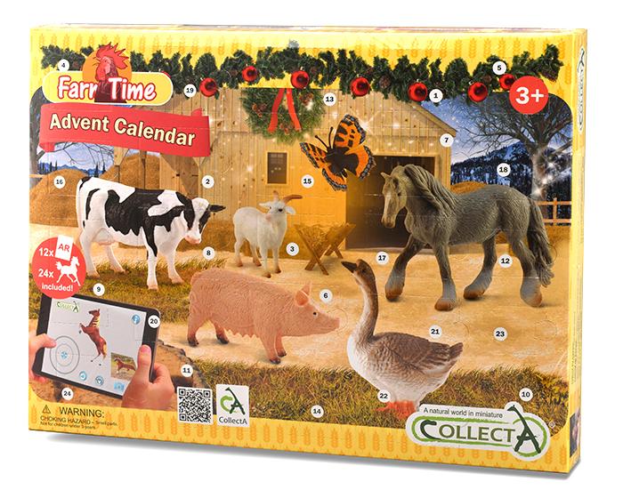 Adventný kalendár-farma a kone