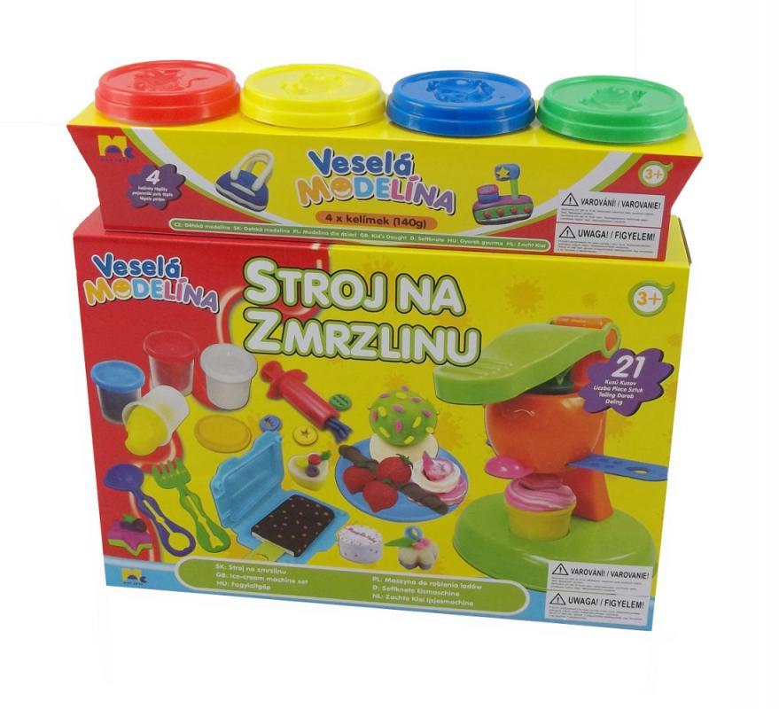Mac Toys Veselá modelína Stroj na zmrzlinu + 4x140g