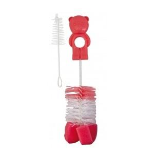 CANPOL BABIES Kartáč na čištění lahví s hubkou