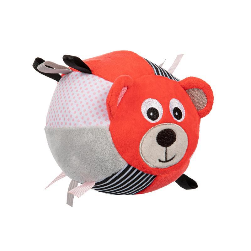 Canpol babies Plyšový senzorický míček MEDVÍDCI červený
