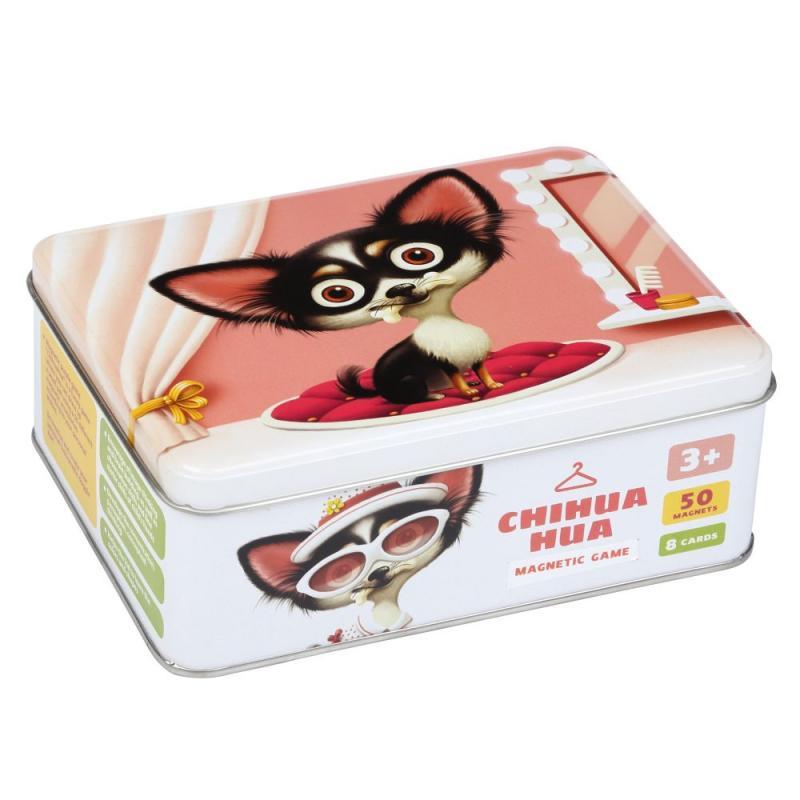 Puzzlika Čivava - psí móda - magnetická hra 50 dílků a 8 předloh