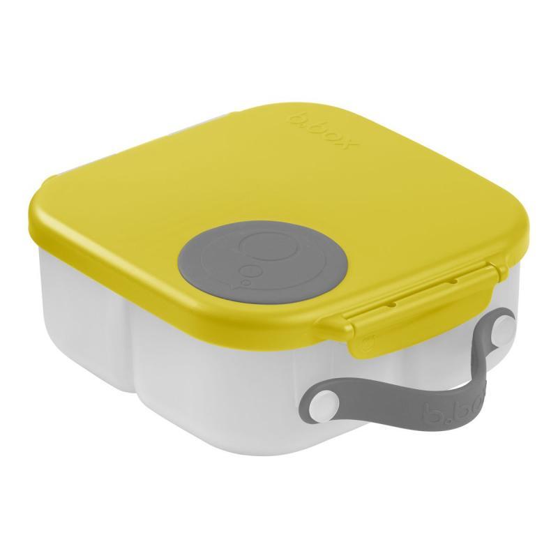 b.box Svačinový box střední- žlutý/šedý