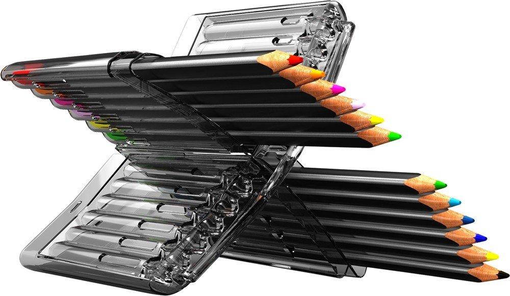 OFFICE LINE Trojhranné pastelky, 12 barev, v plastové krabičce