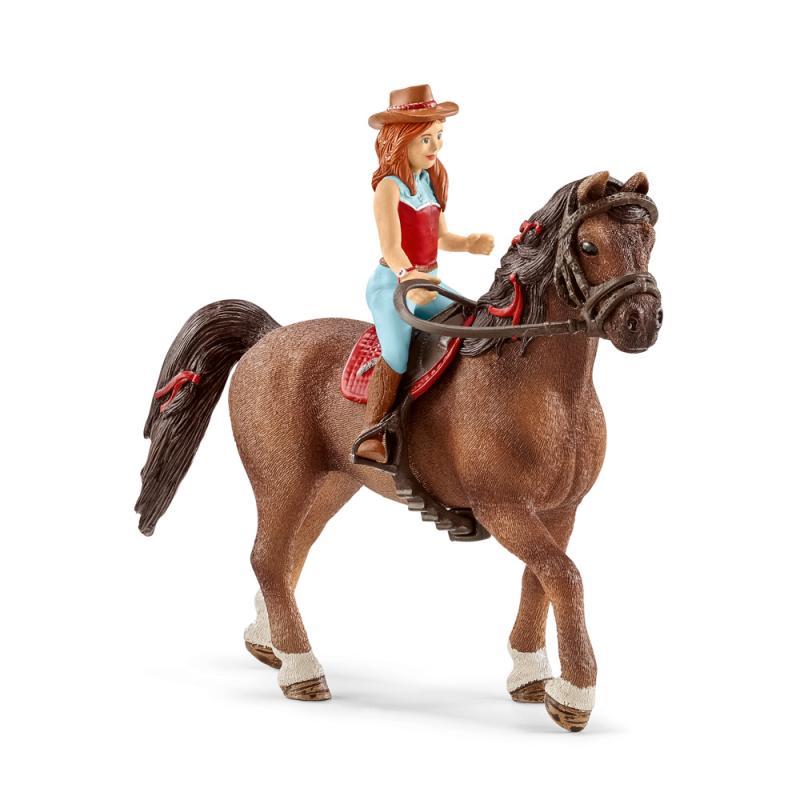 Levně Schleich Zrzka Hannah a kůň Cayenne
