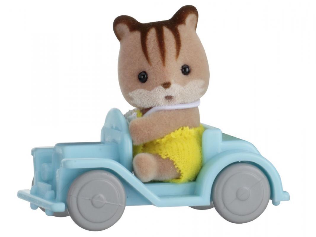 SYLVANIAN FAMILY Baby příslušenství - veverka v autě