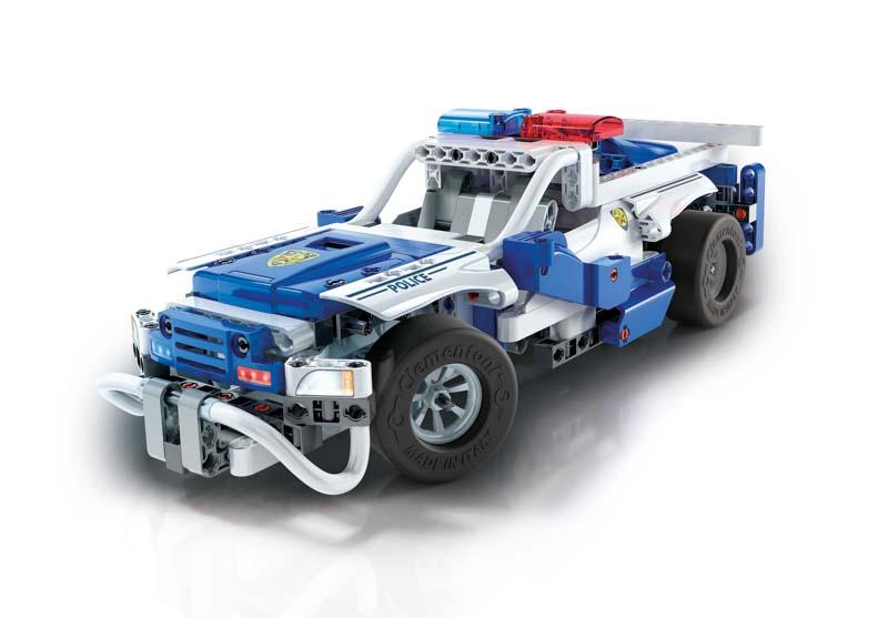 CLEMENTONI Mechanická laboratoř - RC Policejní auto, 2 modely, 300 dílků