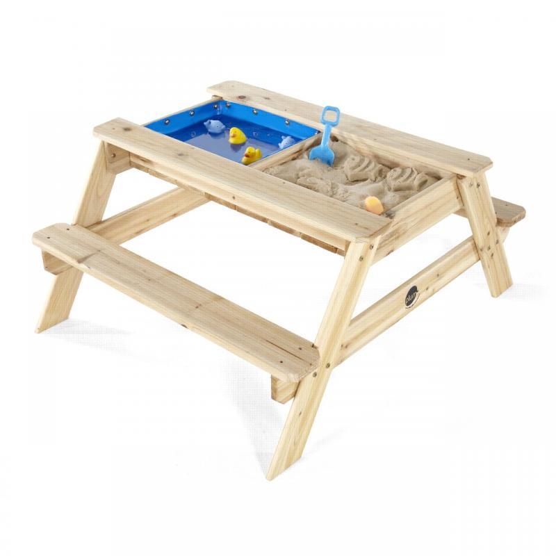 PLUM Dřevěný piknikový stůl 3v1