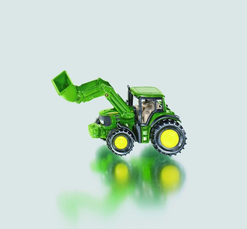 SIKU Blister - Traktor John Deere s nakladačem
