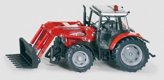 SIKU Traktor massey Ferguson s předním nakladačem a vyměnitelnými nástavci