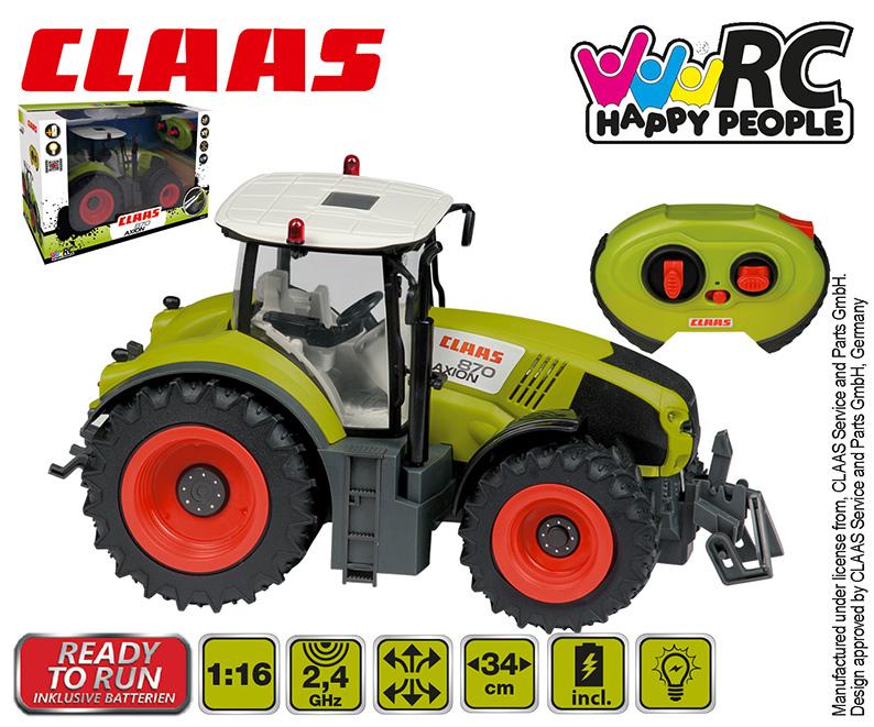 HAPPY PEOPLE 3734424 RC Traktor CLAAS - poškozený obal