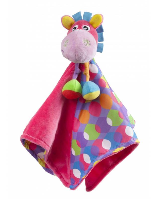 Playgro - Mazlící dečka oslík růžový