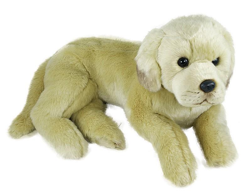 Plyšový pes Labrador 38cm, ležící