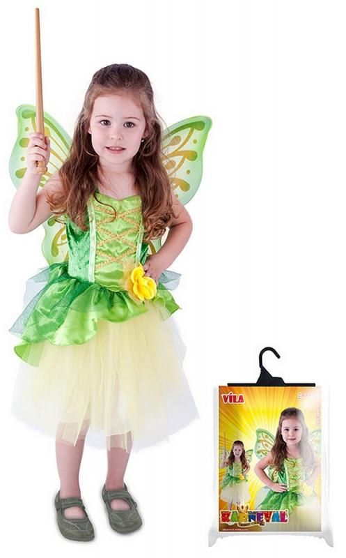 kostým víla Zelenka s křídly vel. S