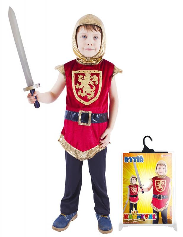 Rappa Karnevalový kostým rytíř s erbem, vel. M
