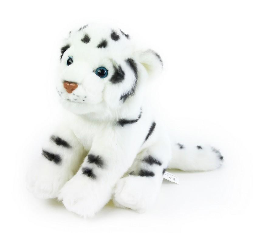 Rappa Plyšový tygr bílý 20 cm