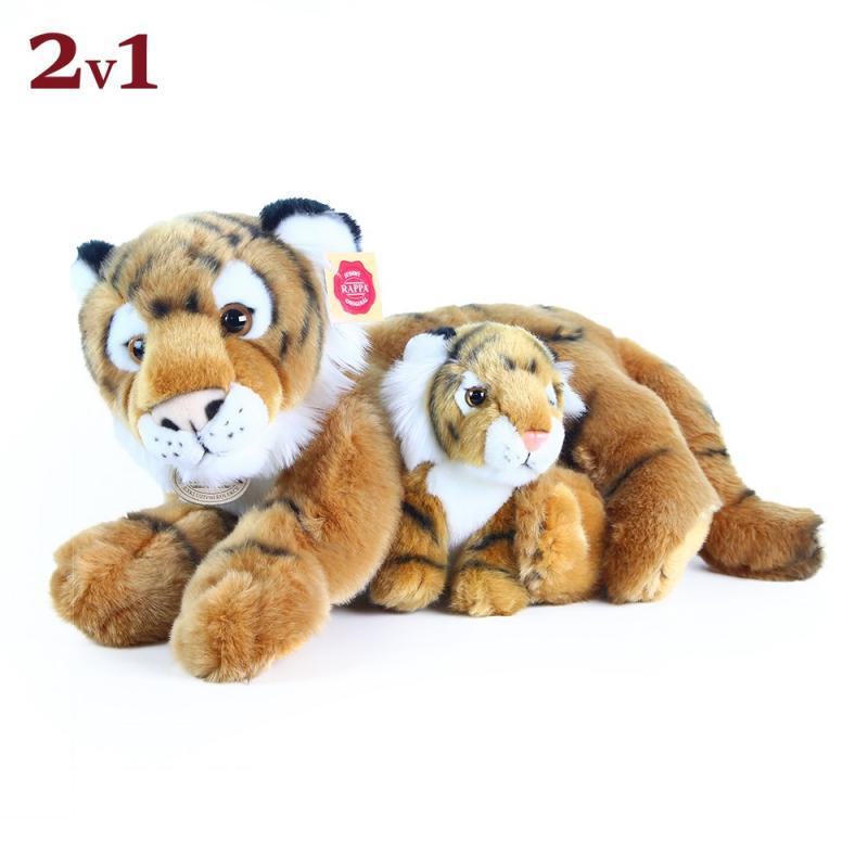 Rappa Plyšový tygr ležící s mládětem, 37 cm
