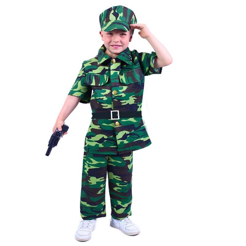 RAPPA Dětský kostým voják (M)