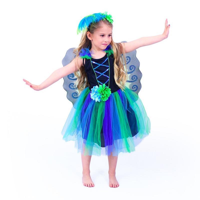 RAPPA Dětský kostým paví víla (M)