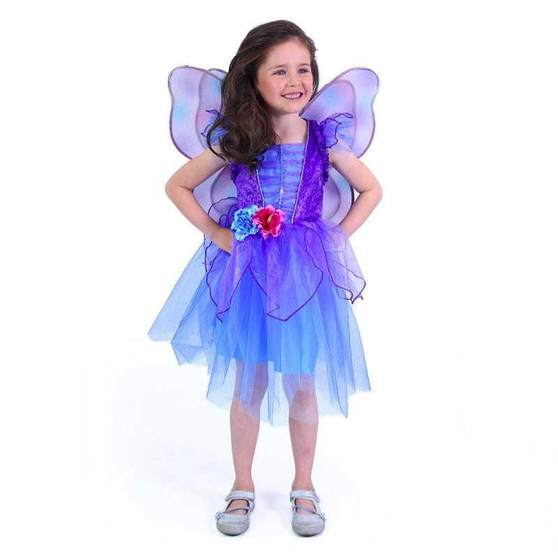 RAPPA Dětský kostým fialová víla (M)