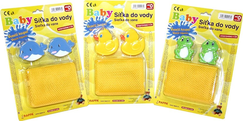 Rappa Síťka do vany na hračky s úchyty