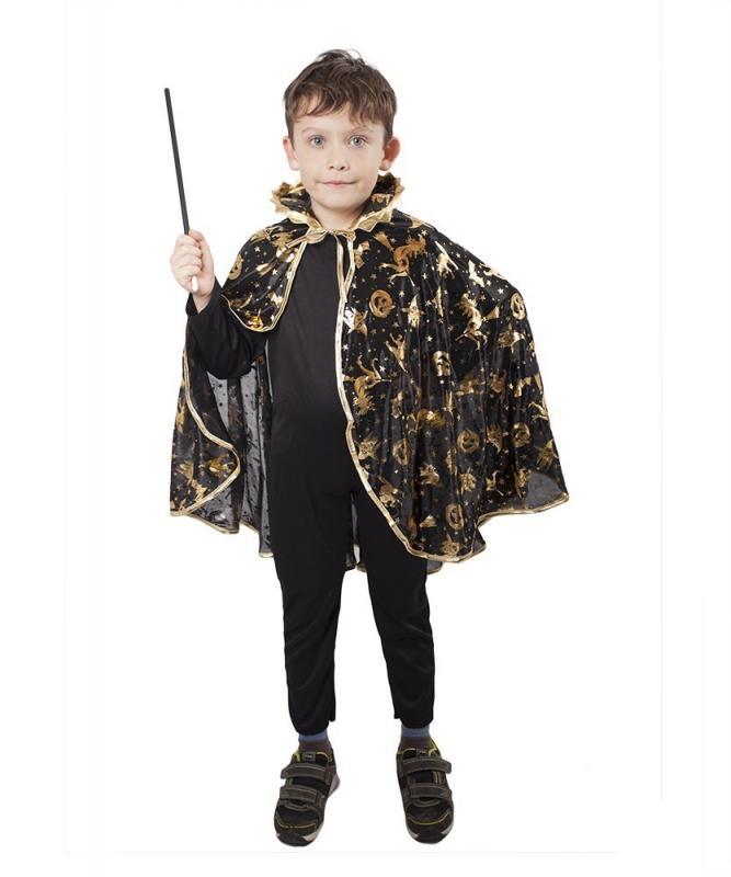 RAPPA Karnevalový kostým plášť čarodějnický černý, dětský