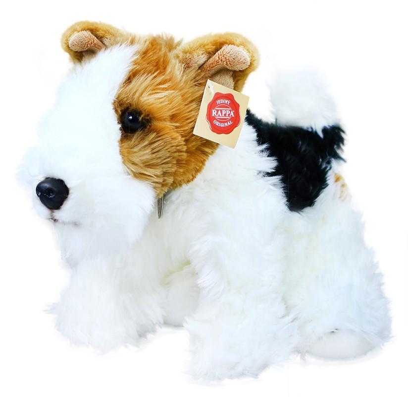 plyšový pes foxteriér, 30 cm