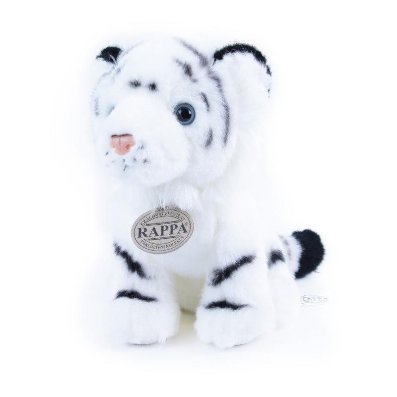 Rappa Plyšový tygr bílý sedící, 18 cm