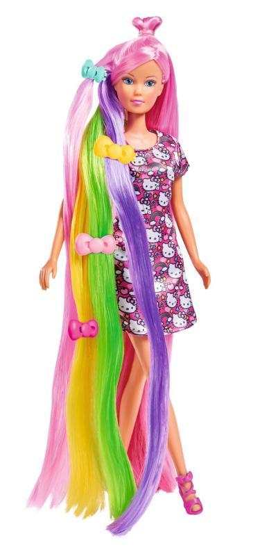 SIMBA Panenka Steffi Hello Kitty s duhovými vlasy