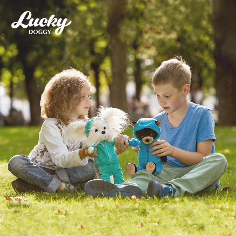 Orange TOYS - pejsek Lucky BUZZ:Fitness (25 cm sedící/44 stojící)