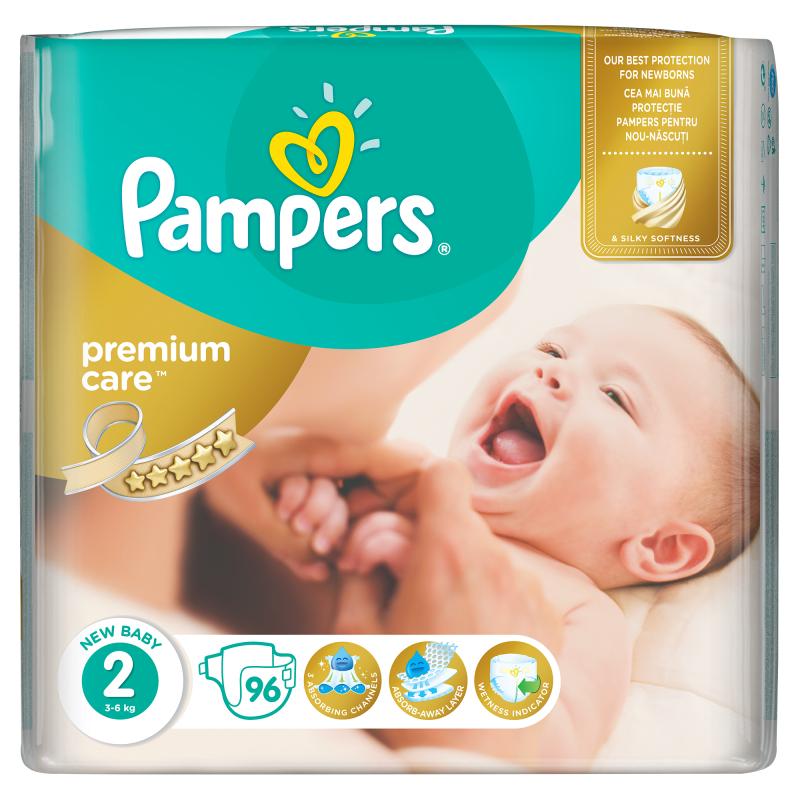 Pampers Premium Care Vel. 2, 96 ks