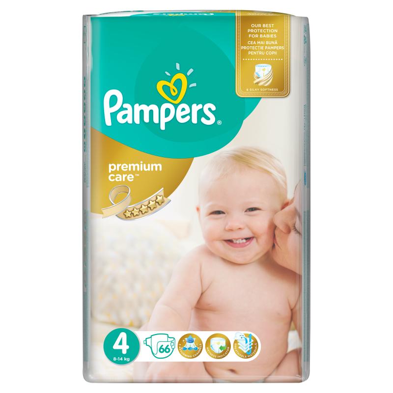 Pampers Premium Care Vel. 4, 66 ks