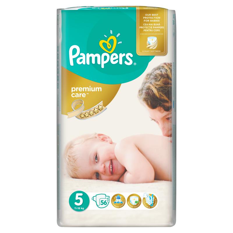Pampers Premium Care Vel. 5, 56 ks