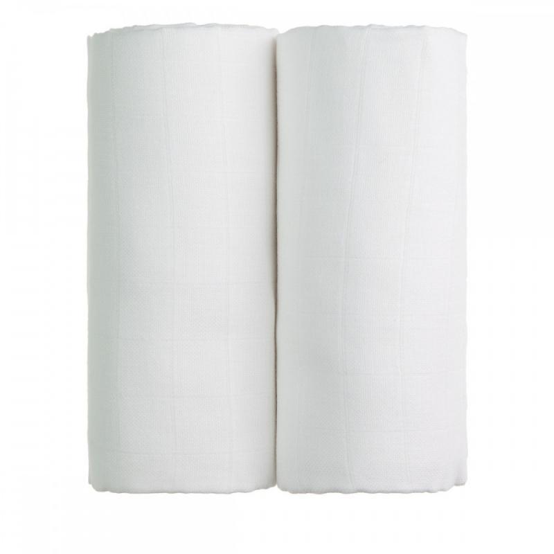 T-TOMI Látkové TETRA osušky, 2x white / 2x bílá