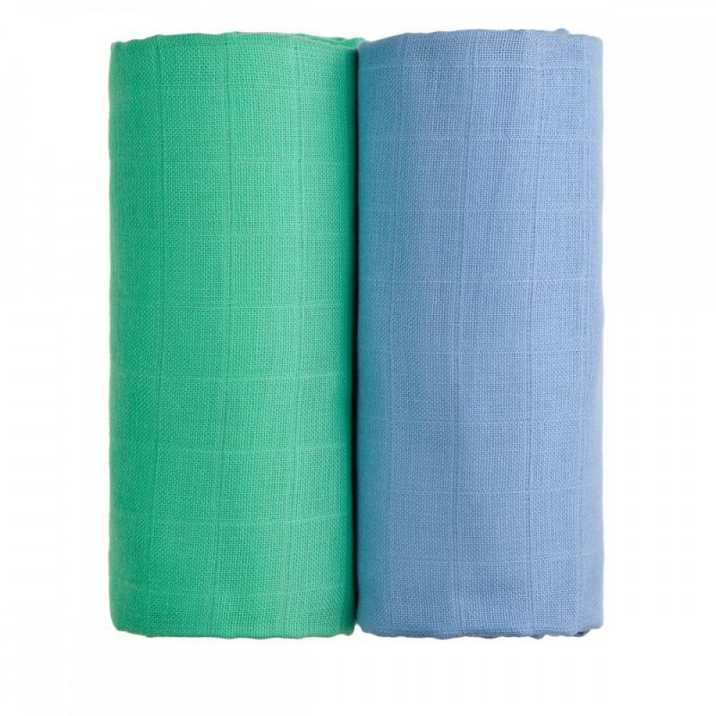 T-TOMI Látkové TETRA osušky, blue + green / modrá + zelená