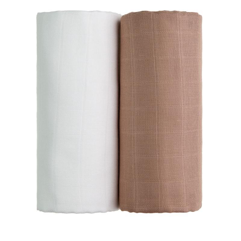 T-TOMI Látkové TETRA osušky, white + beige / bílá + béžová