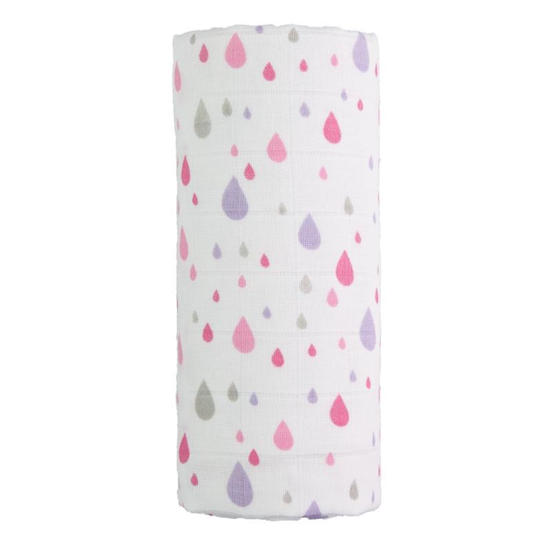 T-TOMI Velká bavlněná TETRA osuška, pink drops / růžové kapky