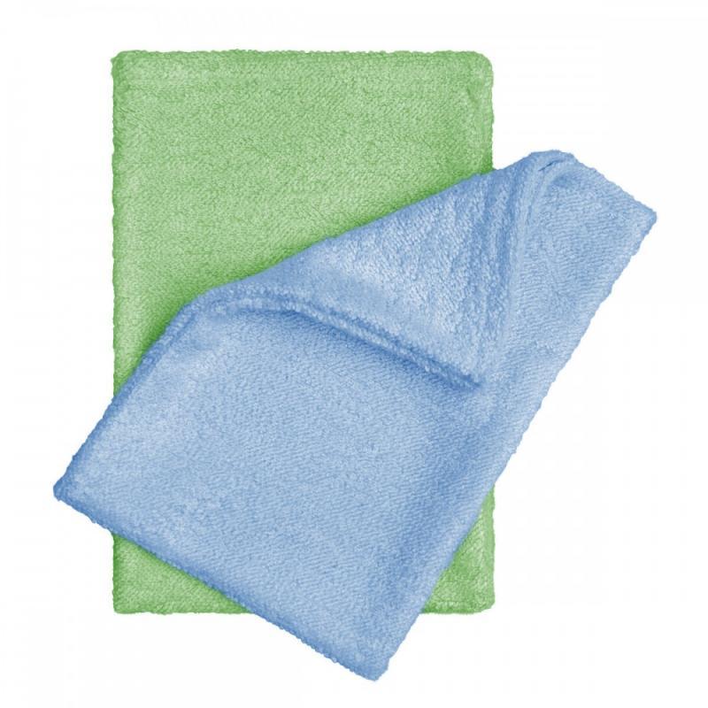 T-TOMI Bambusové žínky - rukavice, blue+green / modrá + zelená