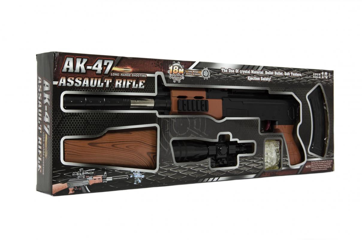Teddies Pistole skládací plast 72cm na měkké vodní kuličky 7-8mm
