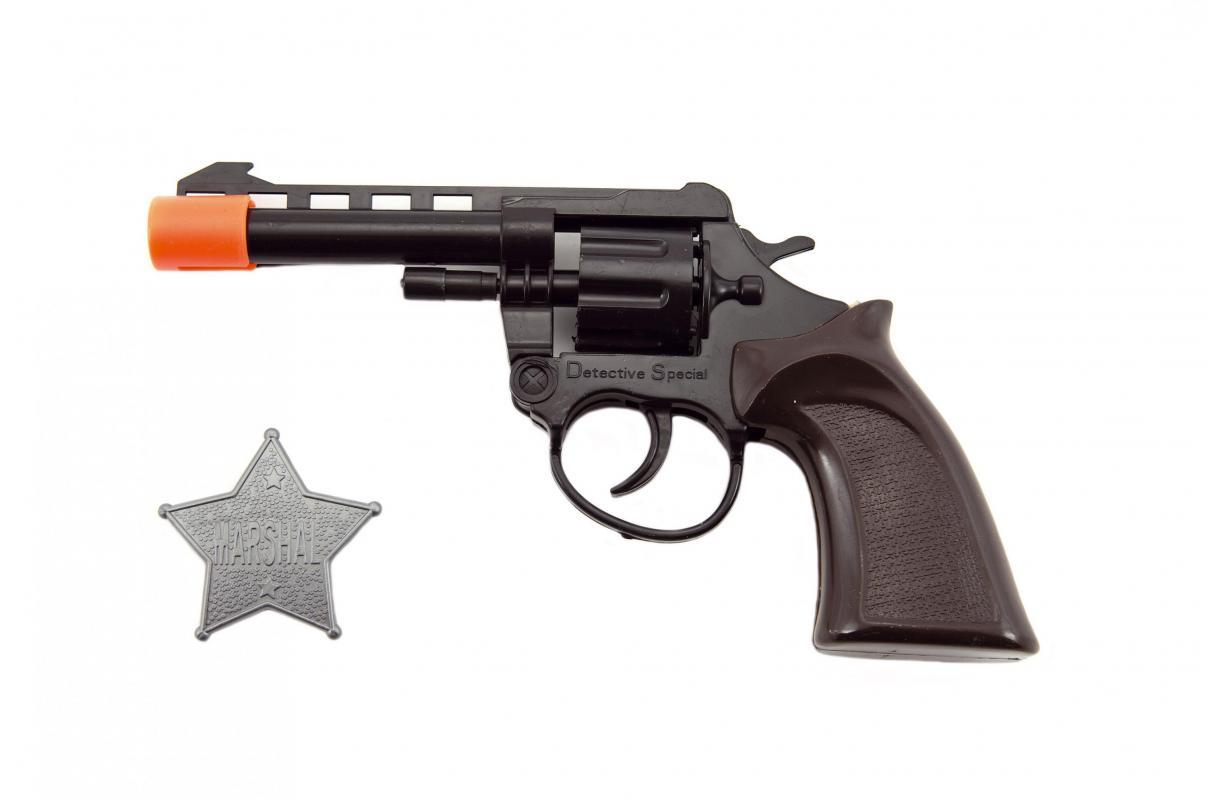 Teddies Pistole/Kolt na kapsle 8 ran + šerifská hvězda plast 18cm